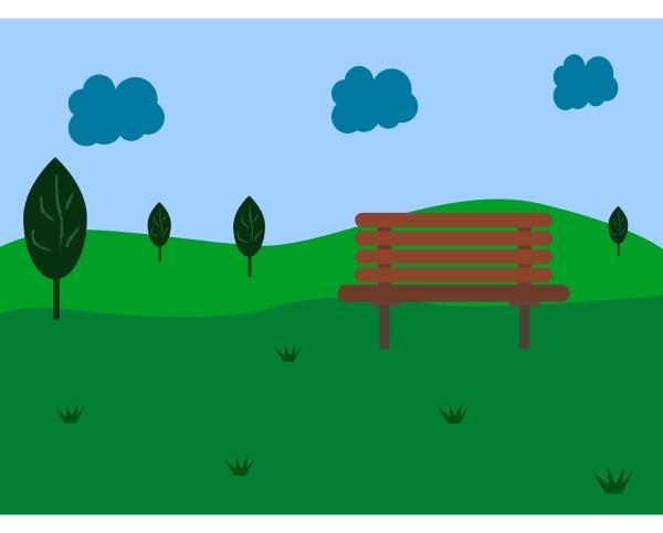 green, garden, , illustration, , vector, on, white - 27514729