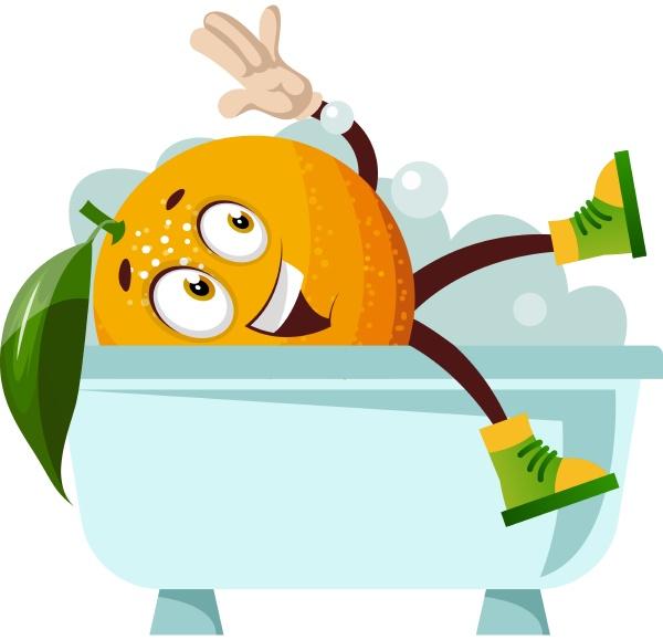 orange baden illustration vektor auf weissem
