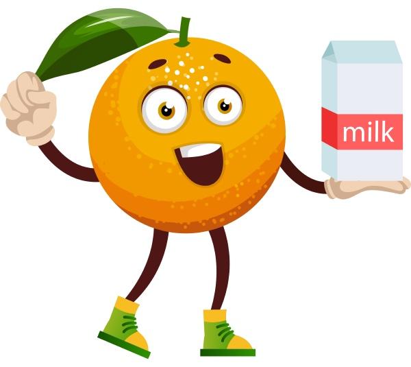 orange mit milch illustration vektor auf