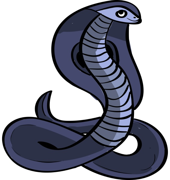 lila kobra illustration vektor auf weissem