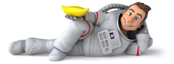fun, astronaut, , , 3d, illustration - 27535027