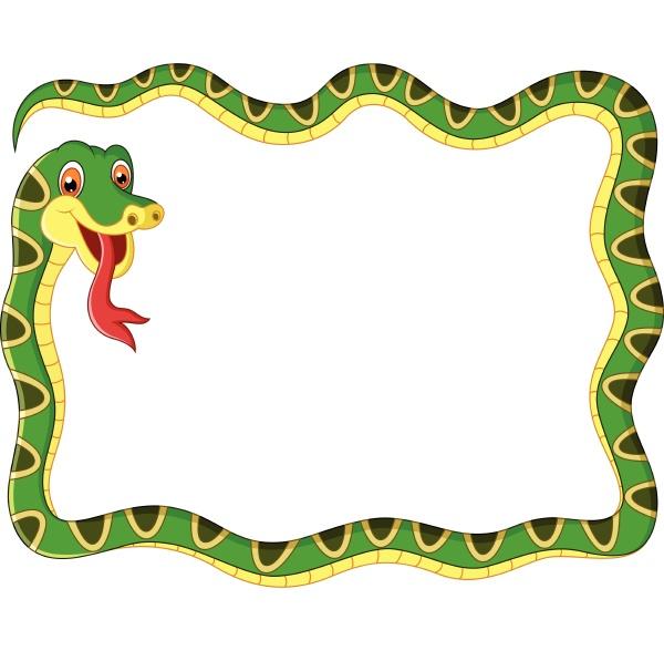 illustration, snake, frame, - 27611408