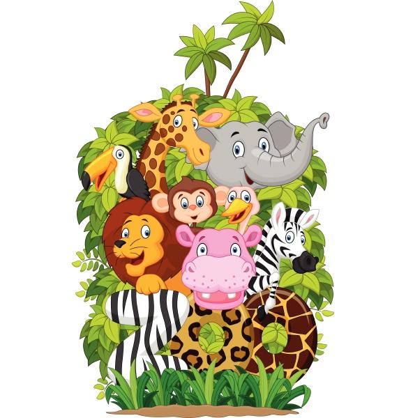 cartoon sammlung tier des zoos