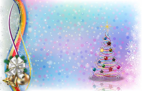 abstrakter hintergrund mit weihnachtsglocken und bogen