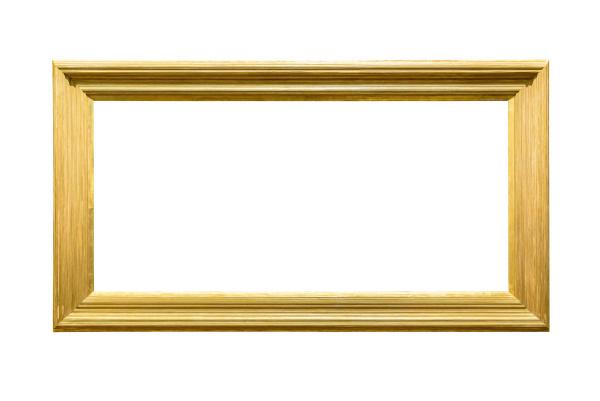 landschaft golden dekorative bilderrahmen auf weissem