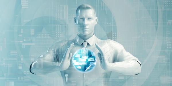 senior business man mit digital solutions