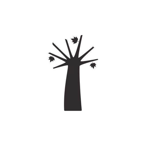 herbstbaum isoliertes symbol herbst fruechte vektor