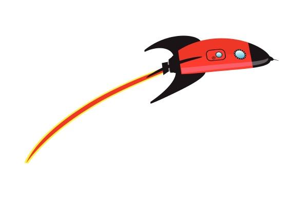 zoomen cartoon space rakete