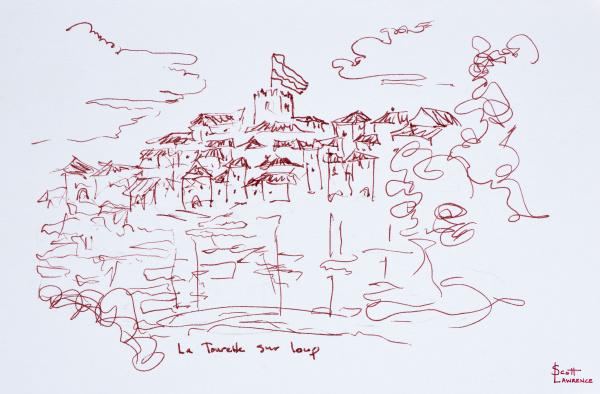 clifftop dorf tourettes sur loup provence