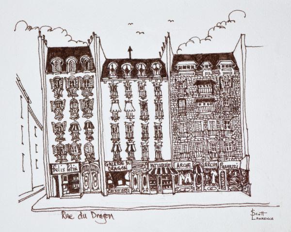 haussmann architecture rue du dragon saint