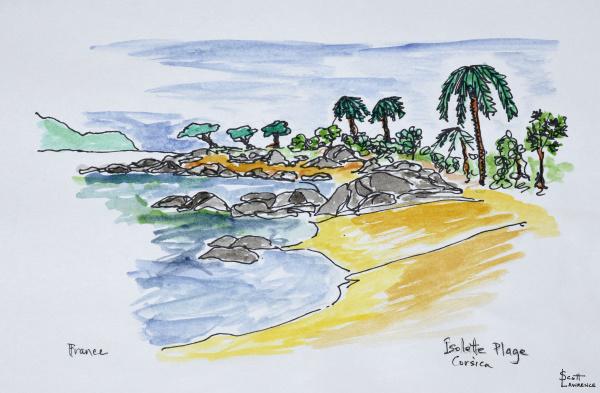 kueste entlang isolella strand ajaccio korsika