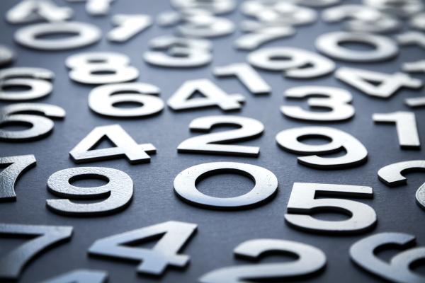mathematischer hintergrund mit soliden zahlen