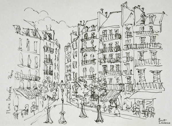 place, dauphine, ile, de, la, cite, paris, frankreich - 27678029