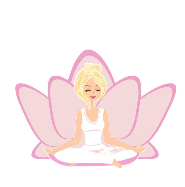 schoene maedchen in yoga lotus position