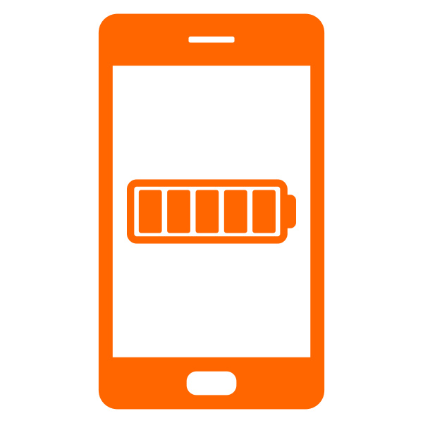 batterie und smartphone