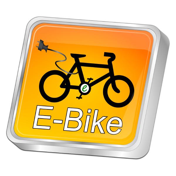 orange e bike button 3d