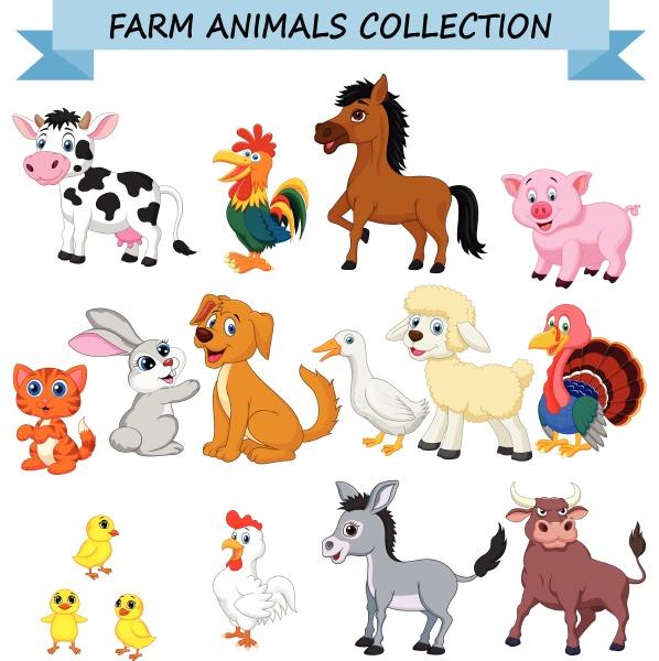 cartoon sammlung fuer nutztiere