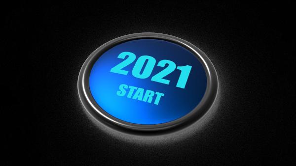 3d rendering des jahreswechsel von 2020