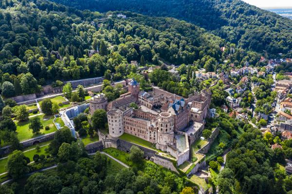 deutschland baden wuerttemberg heidelberg luftaufnahme des