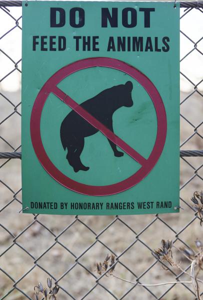 fuettern sie die tiere nicht auf