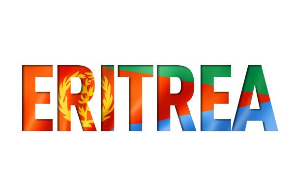 eritreische flagge textschriftart