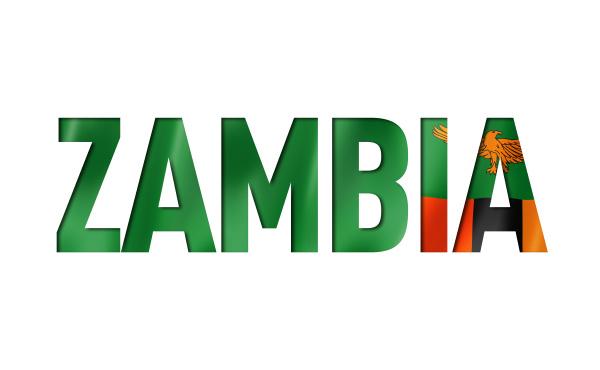 sambia flagge textschriftart