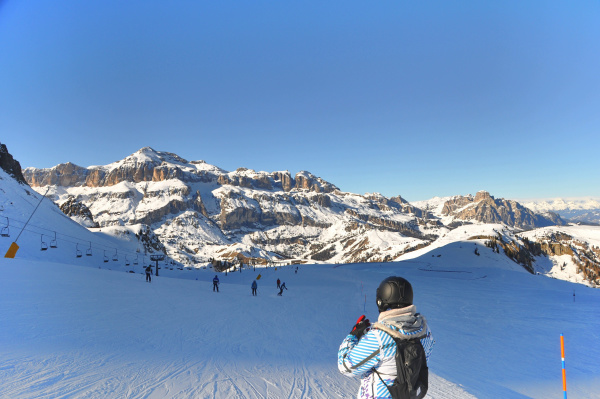 skifahren, in, südtirol - 28140839