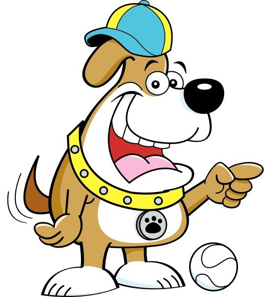 cartoon-illustration, von, hund, zeigen - 28215633