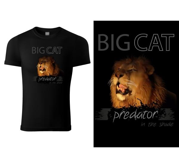 schwarzes, t-shirt, print, design, mit, löwenkopf - 28215750