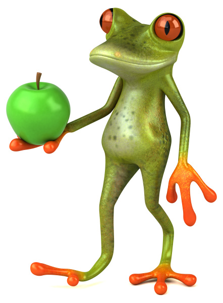 fun, frog, -, 3d, illustration - 28217660
