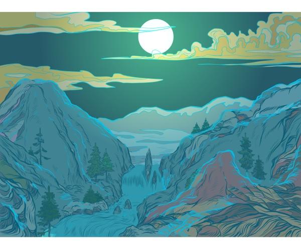 winterbergnacht skigebiet oder naturpark