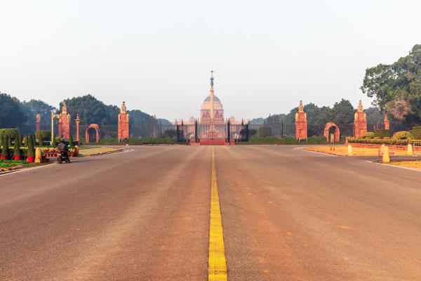 rajpath boulevard und rasthrapati bhawan neu