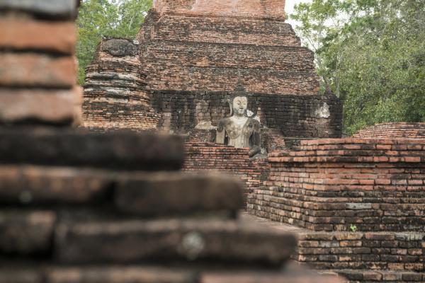 asien thailand sukhothai wat mahathat