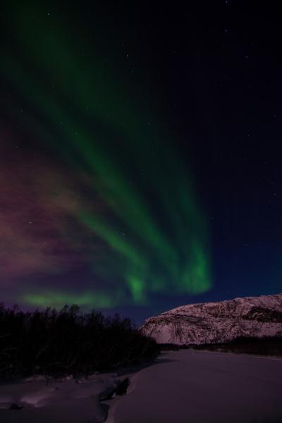 aurora borealis fluss eibyelva alta norwegen
