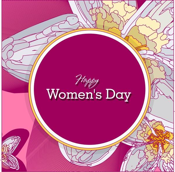 8 maerz rosa floralgrusskarte internationaler happy