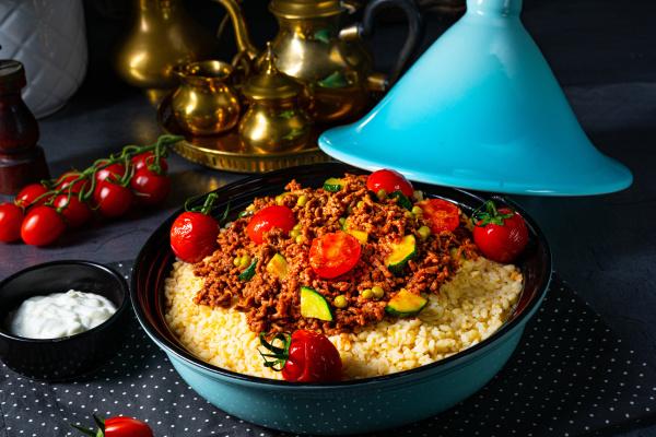 tomaten bulgur mit gemuese und hackfleisch