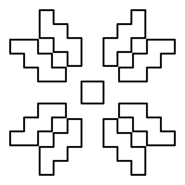 skandinavische muster symbol schwarz farbe vektor