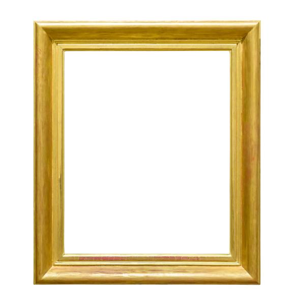 portraet goldenen dekorativen bilderrahmen auf weissem