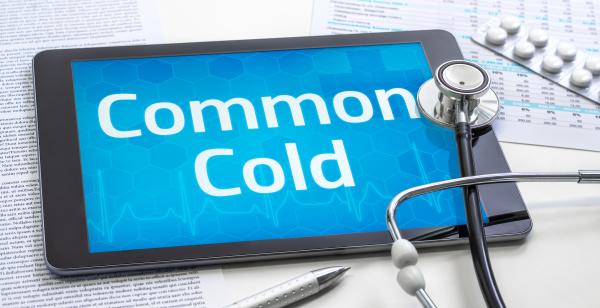 das wort common cold auf dem