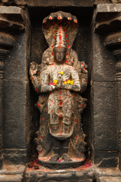 vishnu, image, in, hindu, temple., arunachaleswarar - 28388096
