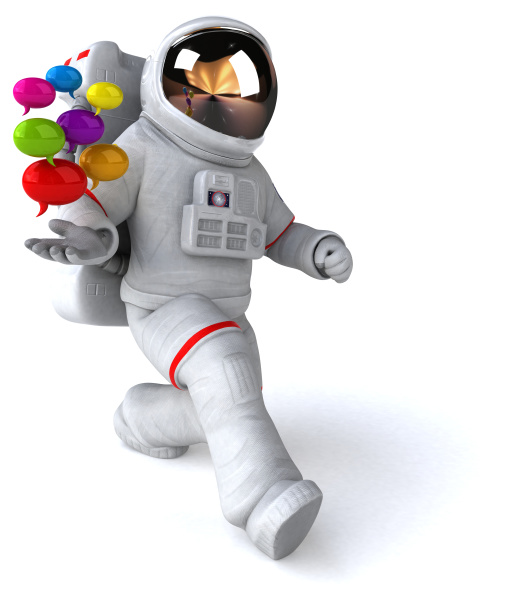 spaß, astronaut, -, 3d-illustration - 28431882