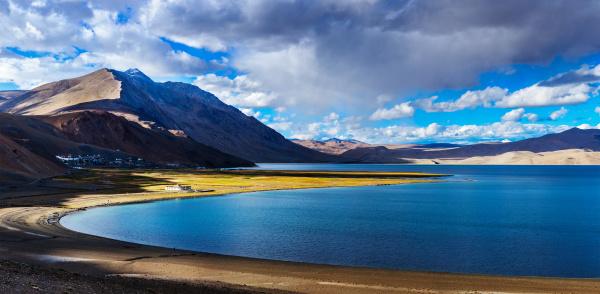 panorama, von, tso, moriri, bei, sonnenuntergang, ladakh - 28467712