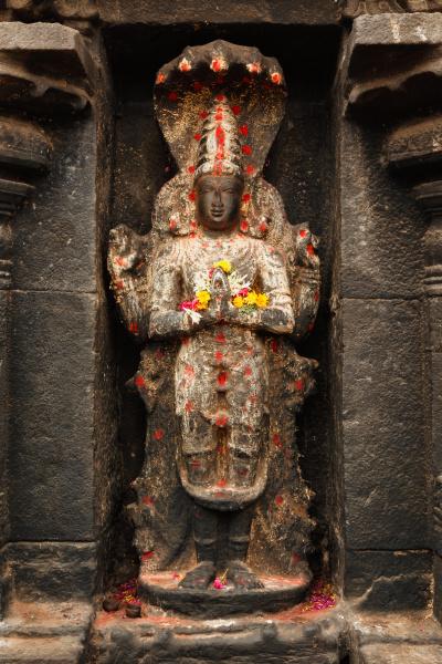 vishnu bild im hindu tempel