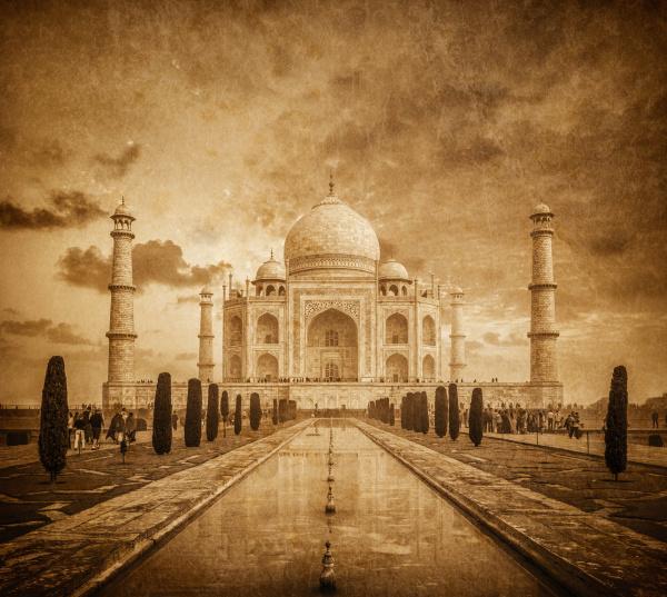taj mahal vintage bild agra indien