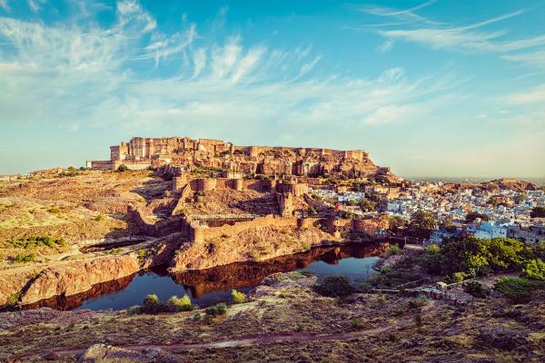 mehrangarh fort jodhpur rajasthan indien