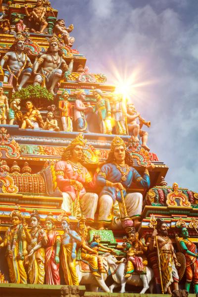 gopuram turm des hindu tempels