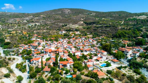 aerial lania village limassol zypern