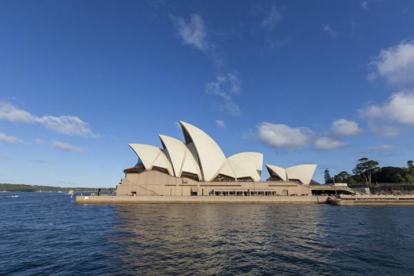 blick auf sydney opera haus bei