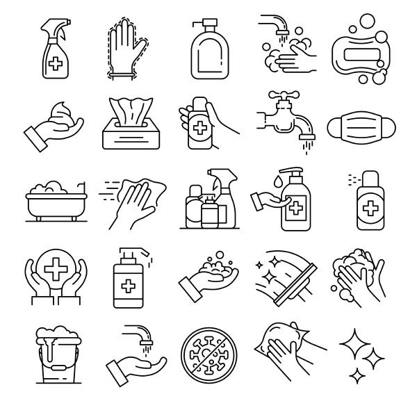 sanitär-symbole, gesetzt., gliederungssatz, von, sanitärvektorsymbolen, für - 28546193