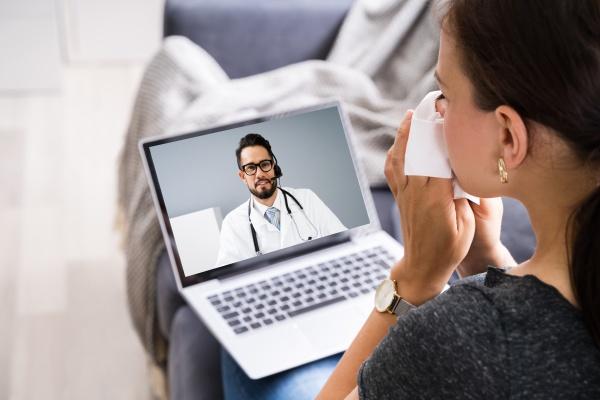online medical video konferenz mit arzt